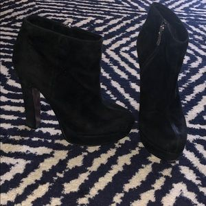 BCBGeneration black suede booties size 6